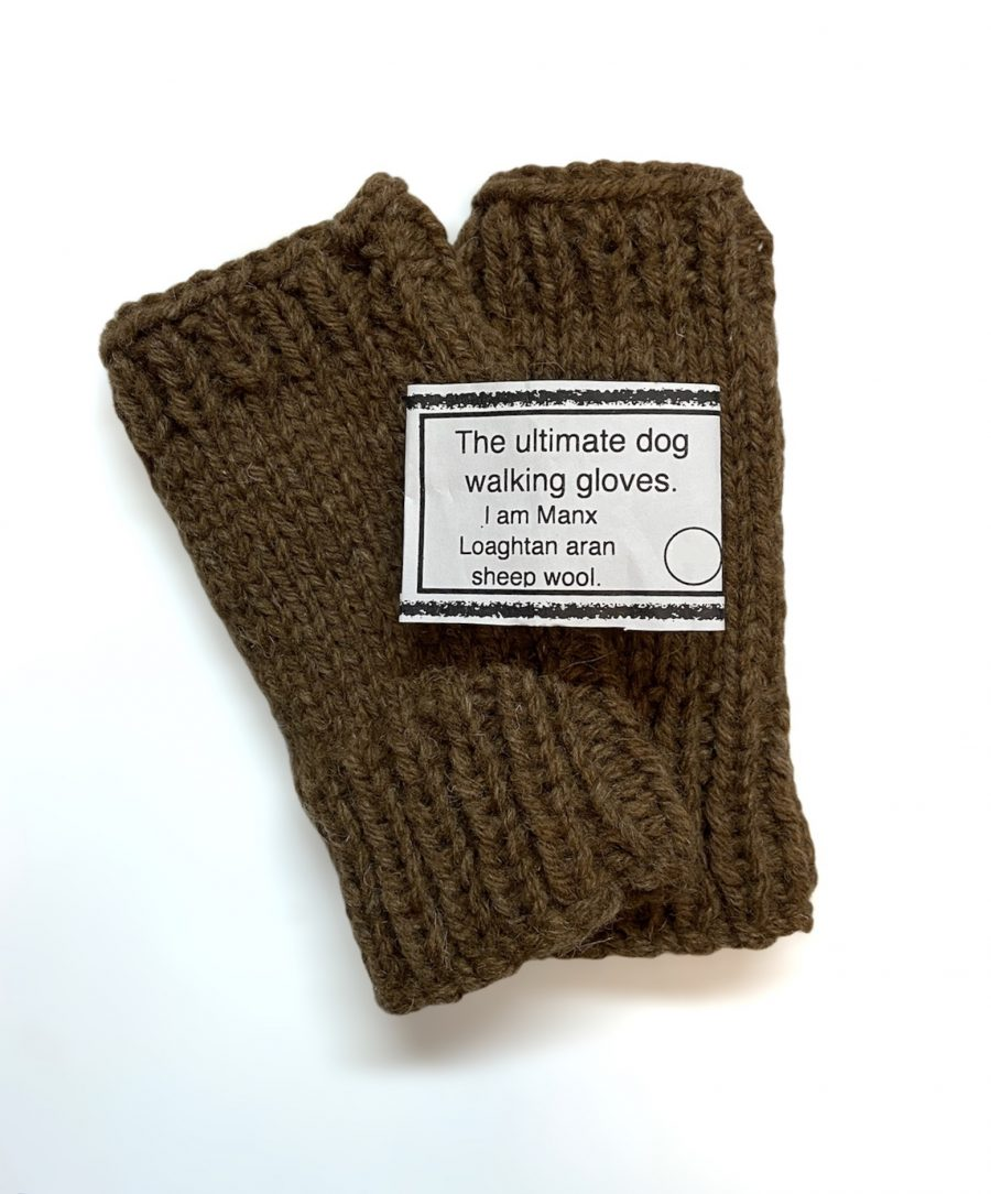 Manx Loghtan Dog Walking Gloves by Janet Taylor