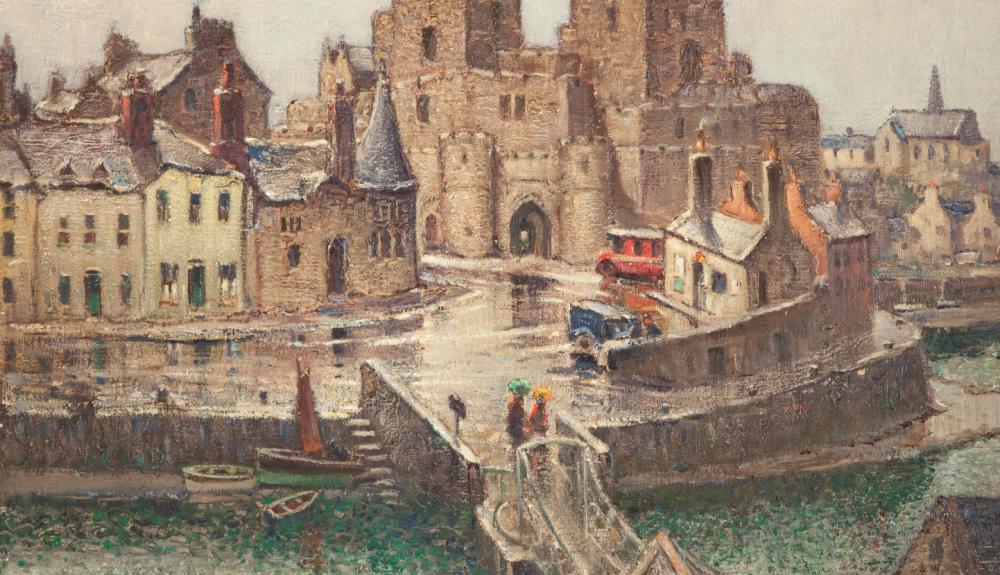 Painting of Castle Rushen of William Hoggatt
