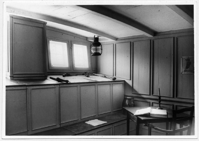 Cabin room at the Nautical museum as it appeared in the 1950s, Peggy by W.H. Mackie
