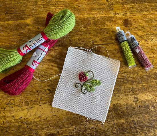 *SOLD OUT* Crewel Beaded Embroidery Workshop – 26th June, 1pm