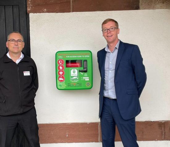 LIFESAVING DEFIBRILLATOR UNVEILED AT THE HOUSE OF MANANNAN
