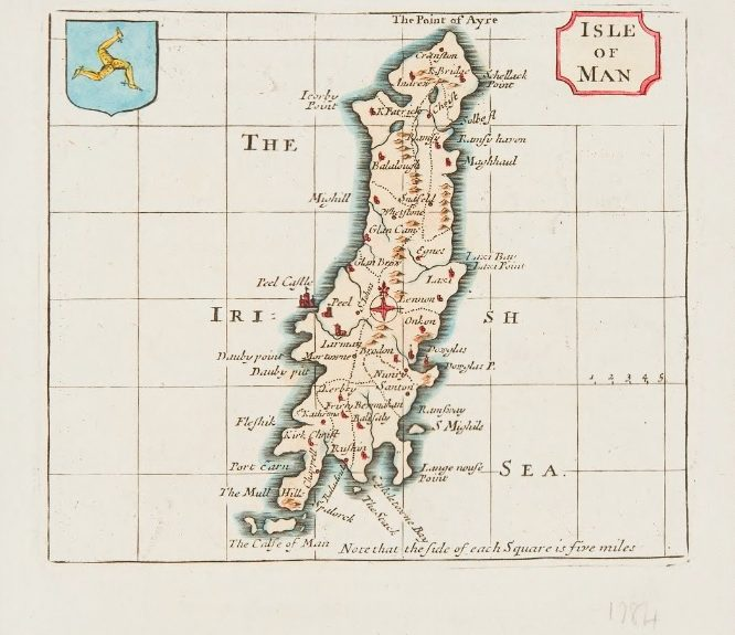 1777 edition of Isle of Man map publication 1695