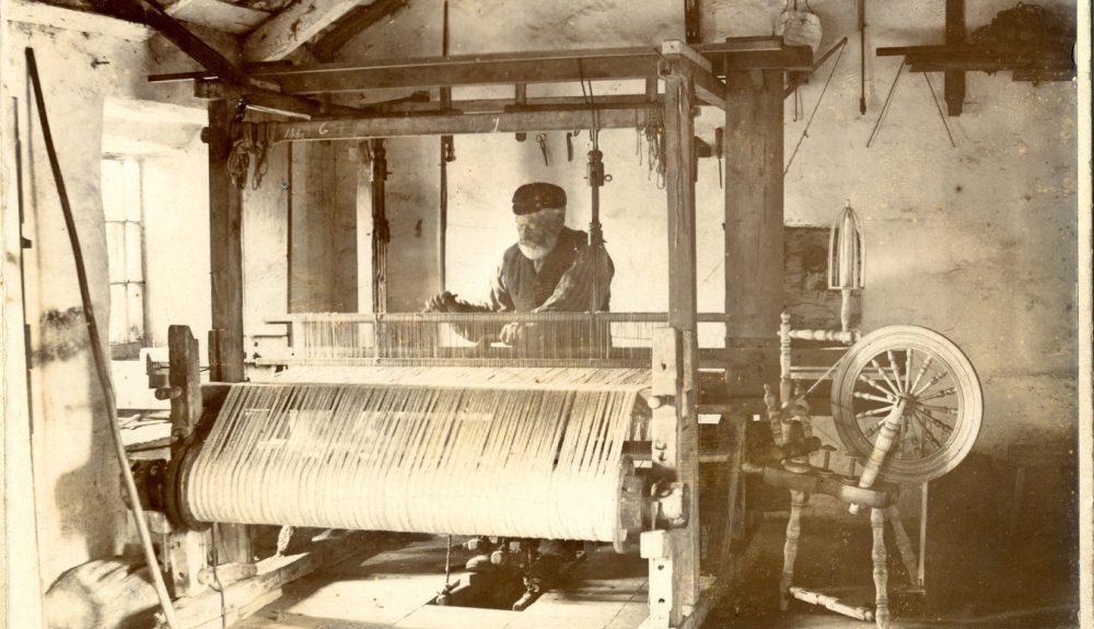 John Creer at His Loom 1878
